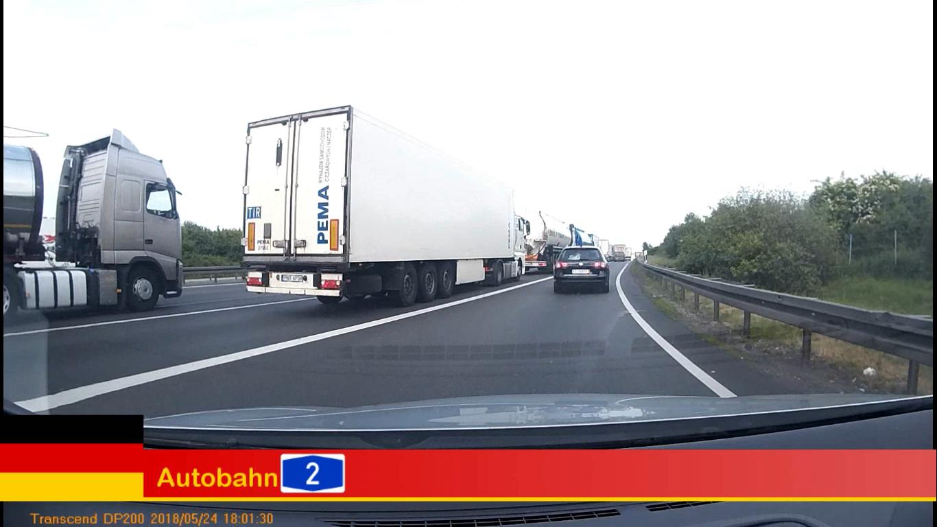 German Autobahn A2 – Heavy Traffic