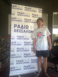 In the Radio Thessaloniki studio.