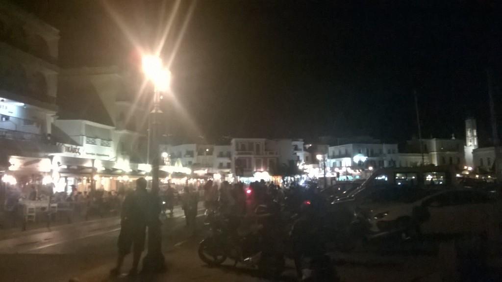 Chora (Tinos) by night.