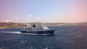 Superferry II as seen from Blue Star 2.