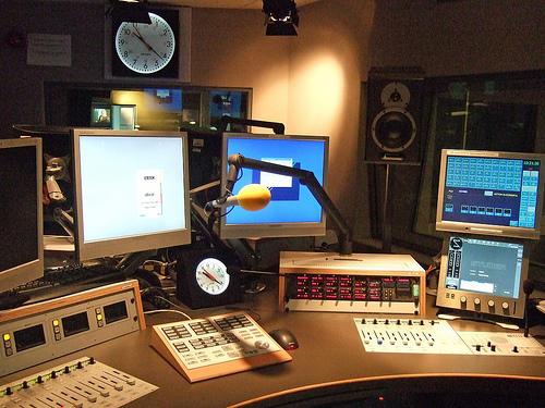 Self-op studio for BBC Radio Scotland