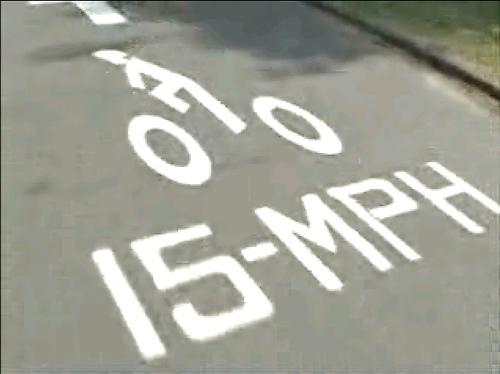 15mph Speed Limit