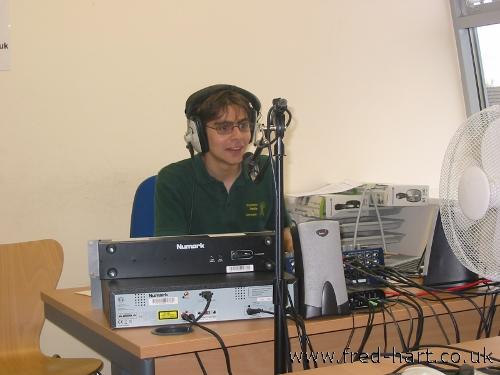 In the Corinium Radio Studio (July 2010)
