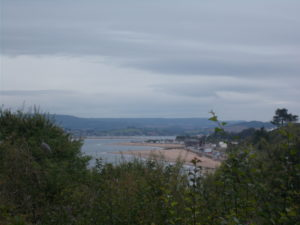 Exmouth as seen from the coastal path