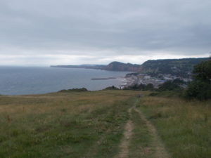 Sidmouth as seen from above