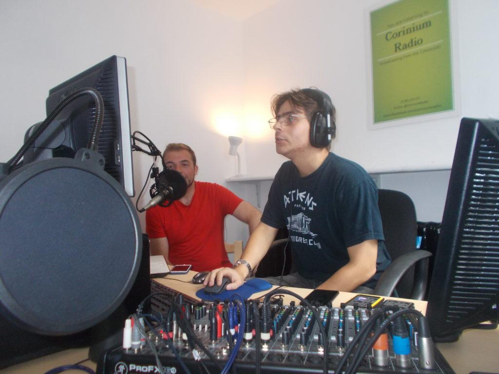 Editing in the Corinium Radio studio